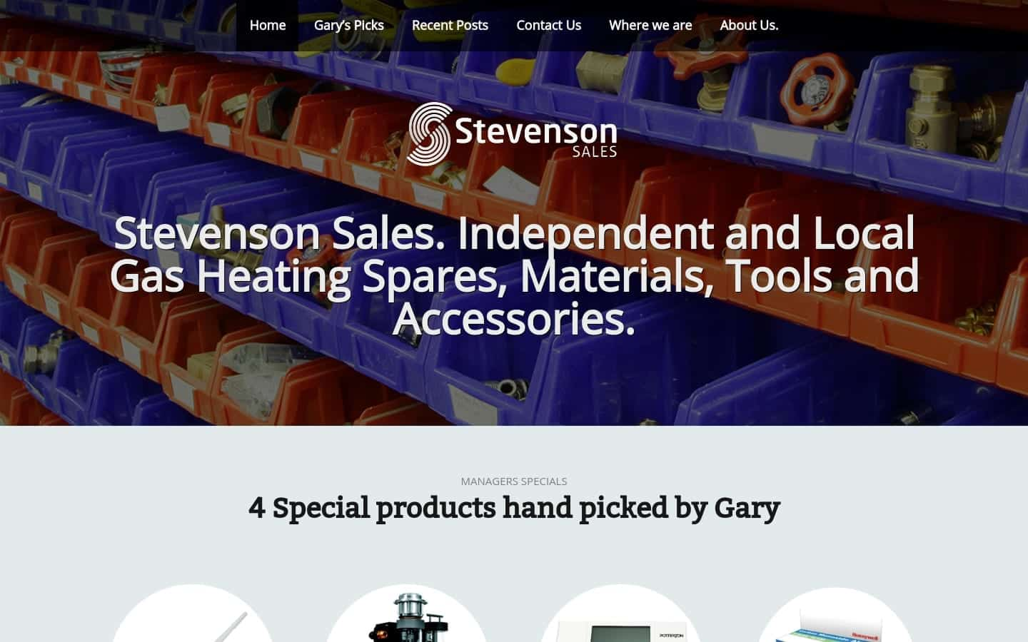 Stevenson Sales desktop website